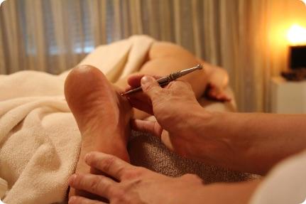 Akupunkt-Meridian-Massage Füße